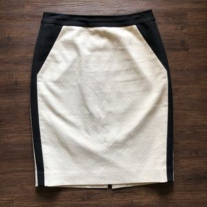 Classiques Entier Cream & Black Pencil Skirt